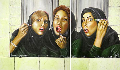 چرا زنان ایرانی بیش از حد آرایش می کنند؟