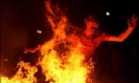مردی زنی را در بجنورد آتشزد